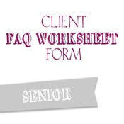 Image of Senior FAQ Worksheet Form