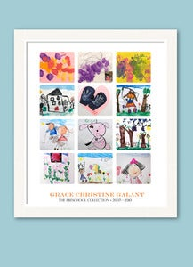 Image of Children's Artwork Displaylarge poster with 12 works of art