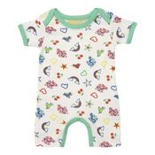 Image of Multi 70's badge print romper, by Boys&Girls (0-6m only)