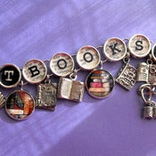 Image of Got Books Charm Bracelet Reading Themed Jewelry