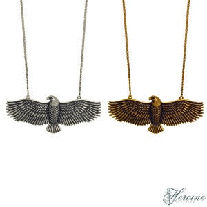 Image of Eagle Necklace Silver/Gold