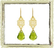 "Jewelry: ""Green Swarovski"""