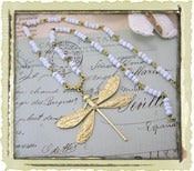 Jewelry: &quot;White Rosary Dragonfly&quot;