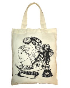 Image of Virginia Woolf Cotton Tote- Limited Edition