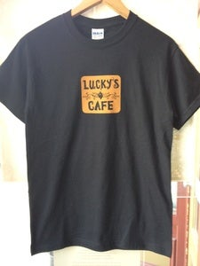 Image of Lucky's Cafe Rocking T-Shirt (Black)