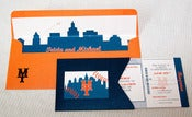 Image of Baseball Ticket Invitations w/Pocket Holder