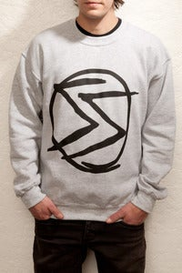 Image of OSS Scribble logo crewneck in grey