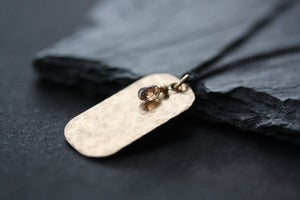 Image of Chocolate Diamond Dog Tag Necklace