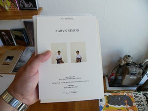 Image of Mono.Editionen #03 - Taryn Simon