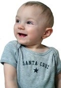 Image of santa cruz baby tee & onesie-grey