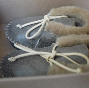 Image of Baby Hipster Mini Fur Lined Moccassins