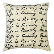 Image of Life is Beauty Full Pillow