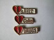 Image of I love coke, drugs, rock n roll pins