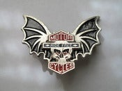 Image of Ride free skull wings pin