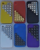 Image of Half Studded Silicone iPhone Case 