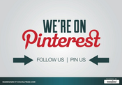 "Image of Buzz Badge - Pinterest ""Follow Us"" Window/Door Stickers and Clings"
