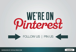 Image of Buzz Badge - Pinterest &quot;Follow Us&quot; Window/Door Stickers and Clings