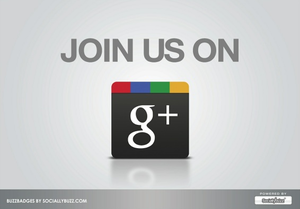 "Image of Buzz Badge - Google+ ""Join Us"" Window/Door Stickers and Clings"