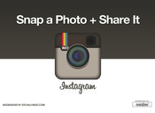 "Image of Buzz Badge - Instagram ""Snap a Photo"" Window/Door Stickers and Clings"