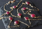 Image of Long Ruby Station Necklace