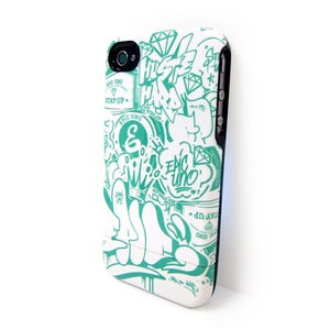 Image of Green Bomb Pattern - iPhone 4 / 4S case