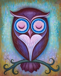 Image of Sleepy Owl Limited Edition Print