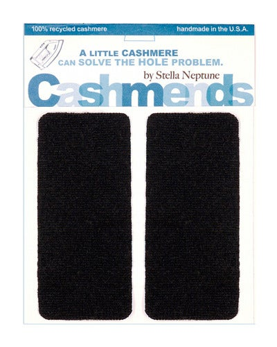 Image of Iron-on Cashmere Elbow Patches  -BLACK