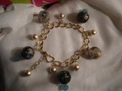 Image of Sugar Charm Bracelet (Blue)