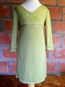 Image of Lime/grey Wrap Dress