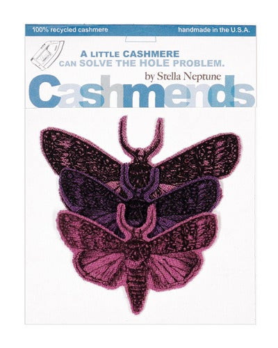 Image of Iron-on Cashmere Moths - Triple Purple