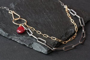 Image of Asymmetrical Gemstone Necklace