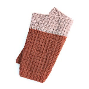 Image of Cozy Cowl in Caramel and Oatmeal
