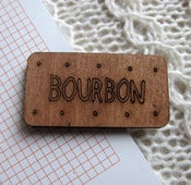 Image of Wooden Bourbon Biscuit Brooch