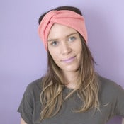 Image of Jersey Turban Headband - Coral