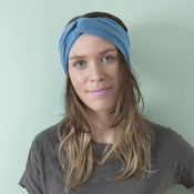 Image of Jersey Turban Headband - Azure - 40% OFF RRP!