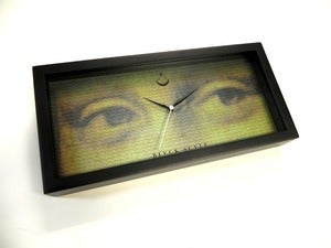 "Image of BLACK SCALE ""LA GIANCONDA"" CLOCK"