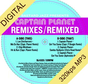 Image of Captain Planet - Remixes / Remixed Digi-12""