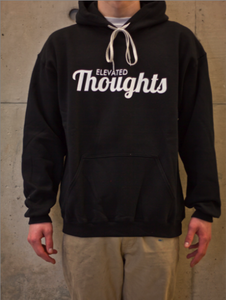 Image of Script logo hoodie (black)