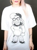 Image of Cartoon Tee: White