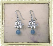 "Jewelry: ""Blue Flora"" in Silver"