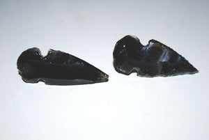 Image of Obsidian Arrowhead Earrings