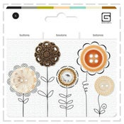 Image of Gorgeous assorted button sets - Amber Tones - 1/2 price!