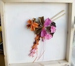 Image of Origami Paper Pinwheel: Framed Origami Shadowbox
