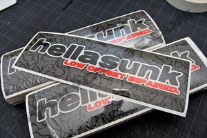 Image of The Chronicles HELLASUNK Version IV die-cut decals NEW!!!