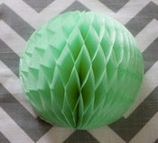 Image of Small Mint Green Honeycomb Ball