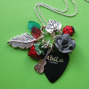 Image of Rock Garden Plectrum Charm Necklace