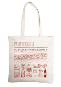 Image of pasta bolgnese - grocery bag