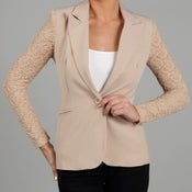 Image of Lace sleeve Blazer