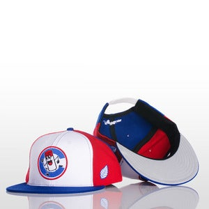Image of High Gloss Spraycan &quot;C&quot; Snapback - Red/White/Blue
