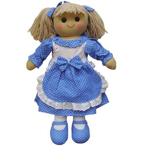 Image of Powell Craft Rag Doll - Blue Dress